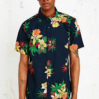 "Obey ""Tourist"" Hemd in Marineblau - Urban Outfitters"