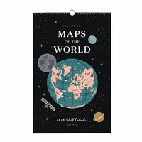 2018 Rifle Paper Co. Maps of the World Calendar