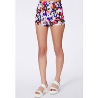 Missguided - Pinala Neon Floral Hotpants