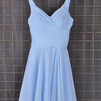 Blue Short Bridesmaid Dresses, Simple Short Prom Dress, Party Dresses, Evening Dresses, Wedding Party Dresses, Bridesmaid Dresses