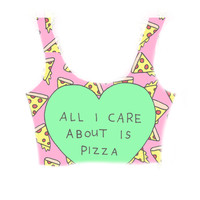 All i care about is pizza summer crop