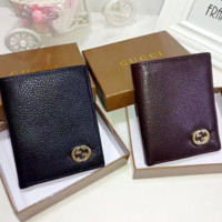 Gucci vertical Leather Fashion Wallet[305664229405]