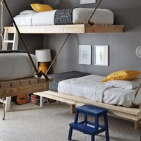 A Trio of Hanging Beds For A Room Shared By Three Kids Room Tour | Apartment Therapy Ohdeedoh