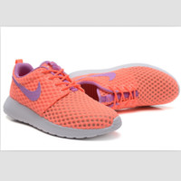 NIKE Roshe Run cellular breathable running shoes Pink purple