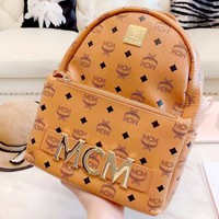MCM new tide brand classic print casual wild backpack
