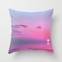 With Each Sunrise We Start Anew Throw Pillow by Ally Coxon | Society6 in sizes 16x16, 18x18 and 20x20 with or without inserts.