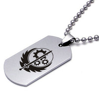 Fallout Brotherhood of Steel Dog Tag Video Game Necklace Pendant US Army