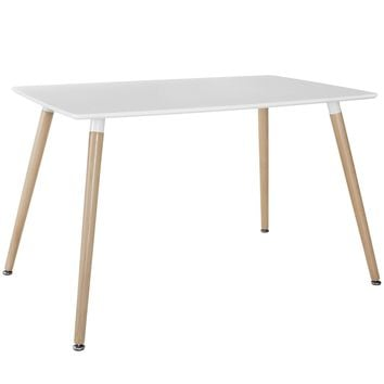 Field Rectangle Dining Table White EEI-1056-WHI