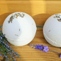 Lavender Bath Bombs-Homemade Bath Products-ALL NATURAL-Essential Oil Blend