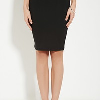 Cotton-Blend Pencil Skirt | Forever 21 - 2000167746