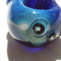 Glass Pipe Space Glow Stars and Saturn Planet