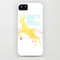 Deer its cold outside  iPhone & iPod Case by secretgardenphotography [Nicola]