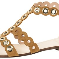 Leather Gladiator Sandal Laser Cutted - Dumond
