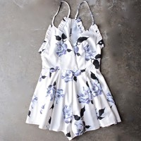 final sale - garden of ava floral romper