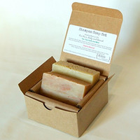 Shampoo Soap Gift Set (2 Full Size Bars) - Cherry Almond, Tea Tree & Mint Hair/body/beard Soaps - Perfect for Camping & Traveling - Handmade with all Natural / Organic Ingredients