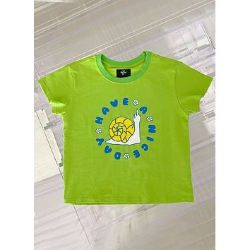 Have A Nice Day Baby Green Tee