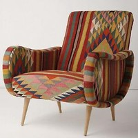 One-Of-A-Kind Berr Armchair, Hot Stripe