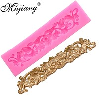 Mujiang DIY Leaf Lace Silicone Molds Gum Paste Chocolate Fondant Sugarcraft Cake Border Decorating Tools