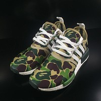 Adidas Boost BAPE NMD R1 Camo Men Women Running Shoes BA7326