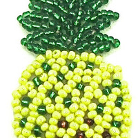 """Pinapple tiny with Green and Yellow Beads 2"""" x 1"""""""