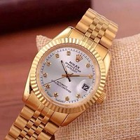 Rolex fashion classic men's and women's casual business steel band watch