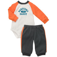 """Carter's Boys """"Handsome Like Daddy"""" Long Sleeved Bodysuit and Pant Set"""