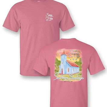 Sassy Frass Southern Sundays Church Comfort Colors T-Shirt