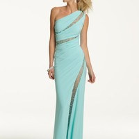 Prom Dresses 2013 - Long One Shoulder Dress with Illusion Inserts from Camille La Vie and Group USA