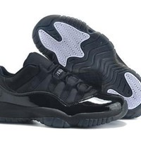 Hot Air Jordan 11 Retro Women Shoes Black White