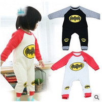 New Baby Boys Rompers 100% cotton 2015 spring Autumn Halloween Batman kids one piece jumpsuit infant romper children's clothing unisex 0-24M = 1928014404