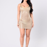 Maui Cover Up Dress - Gold