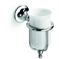 LB Vanessia Wall Toothbrush Toothpaste Holder Bathroom Brushes Tumbler Chrome