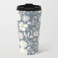 Dusty Flowers Metal Travel Mug by Noonday Design