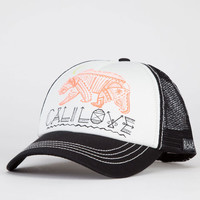 Billabong Cali Dreamz Womens Trucker Hat White/Black One Size For Women 21643216801