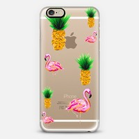 Flamingos and Pineapples iPhone 6 case by Jamel Saliba | Casetify