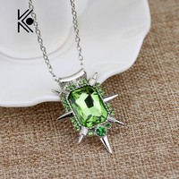 Movie Jewelry Nice Once upon a time wicked witch Zelena glinda glass pendant Necklace great Keepsake gift for fans