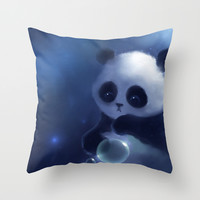 Panda Throw Pillow by Rihards Donskis