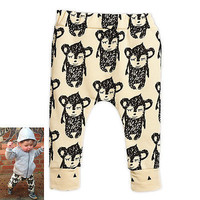 Kids Harem Trousers New Monkey Pattern Soft Pants for Baby Kids Clothes Y1