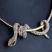 Women Snake Choker Necklaces Trendy Style Necklace Pendants High Quantity Jewelry Crystal Necklace Jewelry
