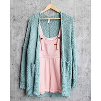 Popcorn Yarn Lightweight Open Front Cardigan in More Colors