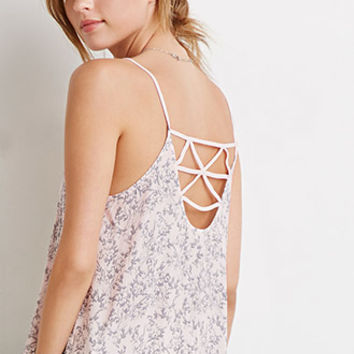 Floral Strappy Back Cami