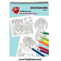 Dachshund Coloring Book for Adults and Children - Volume 1