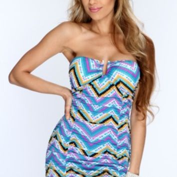 Purple Multi Strapless Printed Sexy Party Dress @ Amiclubwear sexy dresses,sexy dress,prom dress,summer dress,spring dress,prom gowns,teens dresses,sexy party wear,women's cocktail dresses,ball dresses,sun dresses,trendy dresses,sweater dresses,teen cloth
