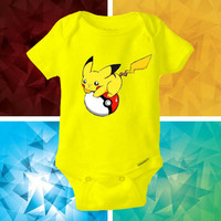 pokemon pikachu (2) baby shirt Onesuit - pokemon pikachu (2) Onesuit cute - baby Onesuit - Kitty Onesuit - Baby Clothing -