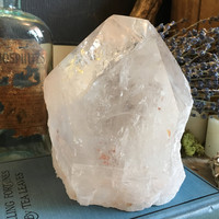 Large Crystal Point / Large Quartz Point  / Large Clear Quartz Standing Point / Quartz Crystal / Healing Crystals /  Mineral Specimen