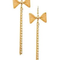 BOW ACCENTED MULTI-CHAIN EARRINGS