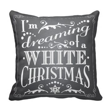 Dreaming of a White Christmas Chalkboard Holiday