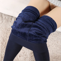 Women's Clothing Candy Colors Women Pants Plus Velvet Thick Warm Leggings Ladies Pants For Winter Super Elastic Women Leggings