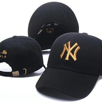 Women and Men NY Embroidered Baseball Cap Hat 501965868- 016