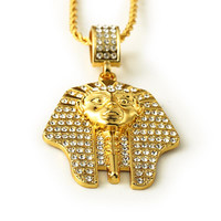 Bling Big Gold New 2015 18K GoldPlated Egypt Pharaoh/Last King Necklaces&Pendants Hip Hop long Guy Necklace Chain Jewelry